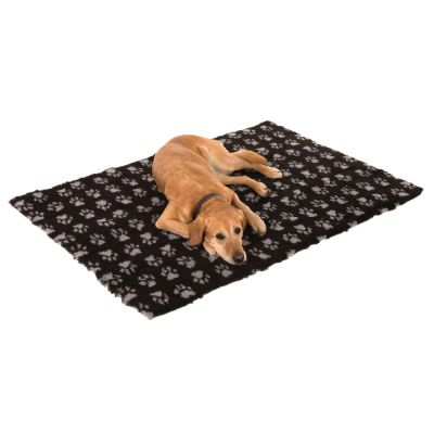 Alfombra Vetbed® Isobed SL Paw negra para perros