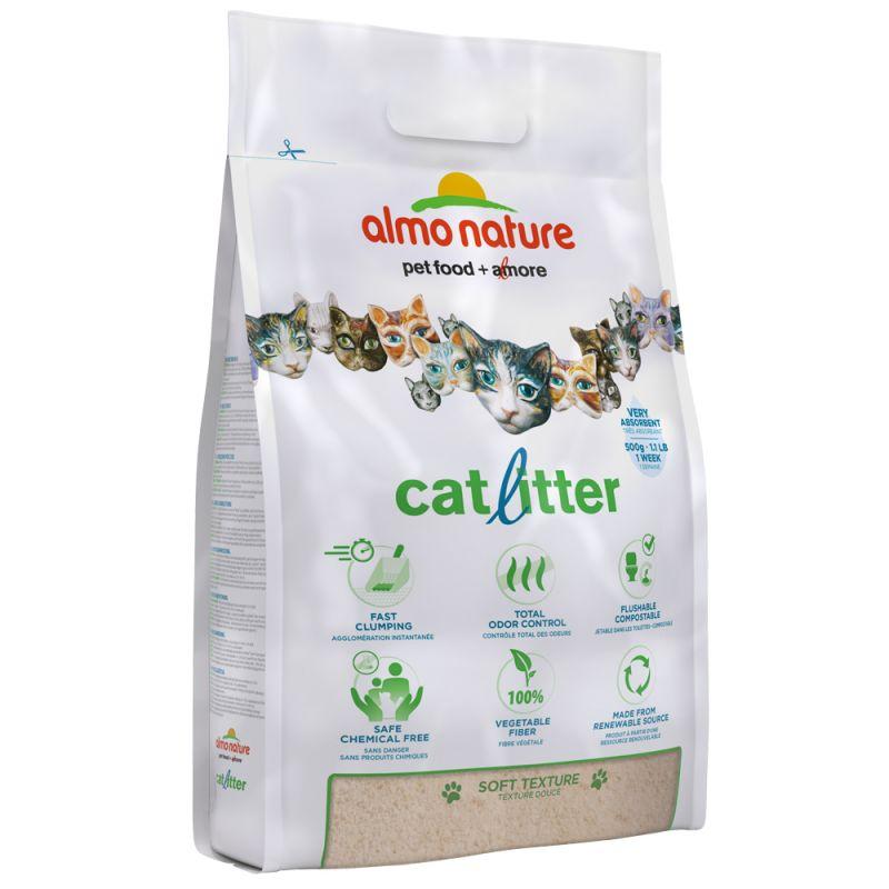 Almo Nature arena vegetal aglomerante para gatos