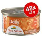 Almo Nature Daily 48 x 85 g Alimento umido per gatti