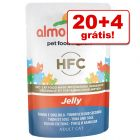 Almo Nature HFC Jelly 24 x 55 g saquetas em promoção: 20 + 4 grátis!