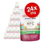 Almo Nature HFC Natural Maaltijdzakjes Voordeelpakket  Kattenvoer  24 x 55 g