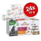 Almo Nature HFC Natural Made in Italy Pacco misto 24 x 70 g Alimento umido per gatti