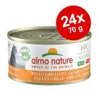 Almo Nature HFC Natural Made in Italy -säästöpakkaus: 24 x 70 g