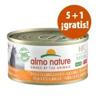 Almo Nature HFC Natural Made in Italy 6 x 70 g en oferta: 5 + 1 ¡gratis!
