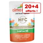 Almo Nature HFC pour chat 20 x 55 g + 4 sachets offerts !