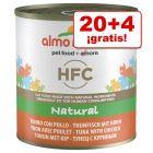 Almo Nature HFC 24 x 280 g en oferta: 20 + 4 ¡gratis!