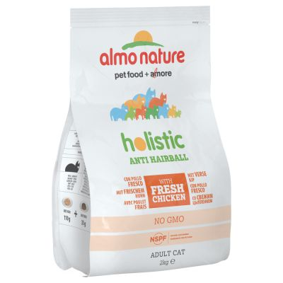 Almo Nature Holistic Anti Hairball poulet, riz pour chat