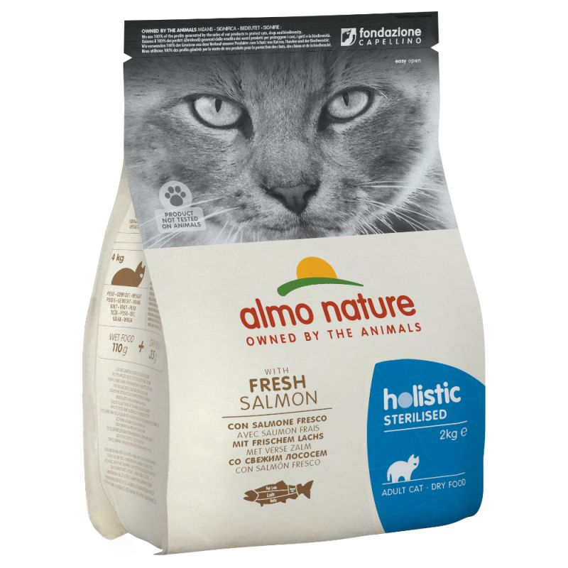 Almo Nature Holistic Sterilised saumon, riz pour chat
