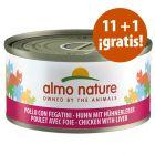 Almo Nature para gatos latas 12 x 70 g en oferta: 11 + 1 ¡gratis!