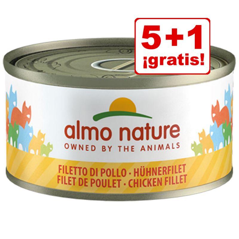 Almo Nature 6 x 70 g: 5 + 1 latas ¡gratis!