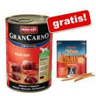 Animonda GranCarno, 18 x 400 g + Rocco Chings mięsne paski do żucia gratis!
