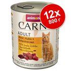 Animonda Carny Adult в бонус опаковка 12 x 800 г
