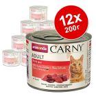 Animonda Carny Adult в комбинирана бонус опаковка 12 x 200 г