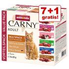 Animonda Carny Adult 8 x 85 g pliculețe: 7 + 1 gratis!
