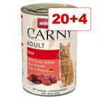 Animonda Carny kissanruoka 24 x 400 g: 20 + 4 kaupan päälle!