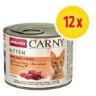 Animonda Carny Kitten 12 x 200 g - Pack Ahorro