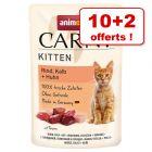 Animonda Carny pour chat / chaton 10 x 85 g + 2 sachets offerts !
