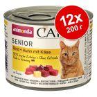 Animonda Carny Senior в бонус опаковка 12 x 200 г