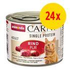 Animonda Carny Single Protein Adult 24 x 200 g para gatos