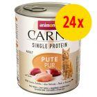 Animonda Carny Single Protein Adult 24 x 800 g para gatos