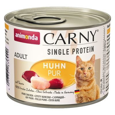 Animonda Carny Single Protein Adult 24 x 200 g para gatos - Pack Ahorro