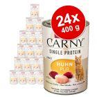 Animonda Carny Single Protein Adult 24 x 400 g para gatos - Pack económico