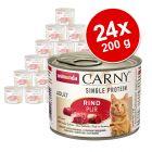 Animonda Carny Single Protein Adult 24 x 200 g para gatos - Pack económico