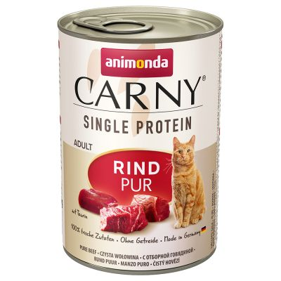 Animonda Carny Single Protein Adult 24 x 400 g pour chat