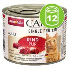 Animonda Carny Single Protein Adult 12 x 200 g pour chat