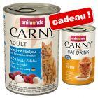 Animonda Carny 24 x 400 g + Boisson Animonda Carny Cat Drink 140 mL offerte !