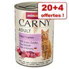 Animonda Carny 20 x 400 g pour chat + 4 boîtes offertes !