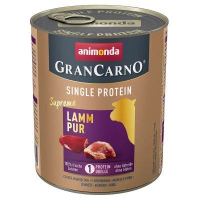 Animonda GranCarno Adult Single Protein Supreme, 6 x 800 g
