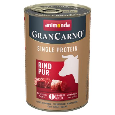 Animonda GranCarno Adult Single Protein 6 x 400 g pour chien