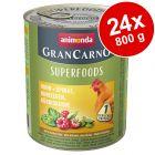 Animonda GranCarno Adult Superfoods -säästöpakkaus 24 x 800 g