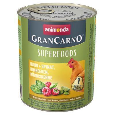 Animonda GranCarno Adult Superfoods, 6 x 800 g