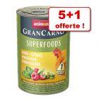 Animonda GranCarno Adult Superfoods 5 x 400 g + 1 boîte offerte !