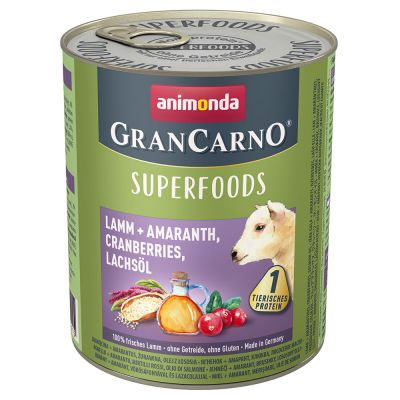 Animonda GranCarno Adult Superfoods 6 x 800 g pour chien