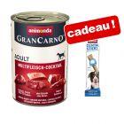 Animonda GranCarno Original Adult 6 x 400 g + 50 g Dental Sticks offerts !