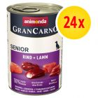 Animonda GranCarno Original Senior, 24 x 400 g