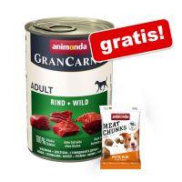 Animonda GranCarno, 6 x 400 g + Meat Chunks, z indykiem, 30 g gratis!