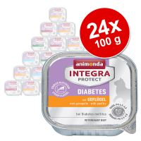 Animonda Integra Protect Adult Diabetes 24 x 100 g para gatos - Pack Ahorro