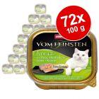 Animonda vom Feinsten Adult herkkutäytteellä -suurpakkaus 72 x 100 g