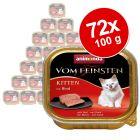 Animonda vom Feinsten Kitten -säästöpakkaus 72 x 100 g