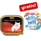 Animonda vom Feinsten, 32 x 100 g + 4 x 15 g Milkies Variety gratis!