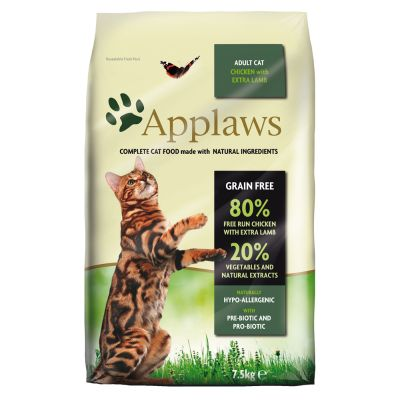 Applaws Adult Naturally Hypoallergenic con pollo y cordero para gatos