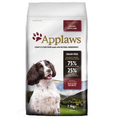 Applaws Adult Small & Medium Breed - Kip met Lam Hondenvoer