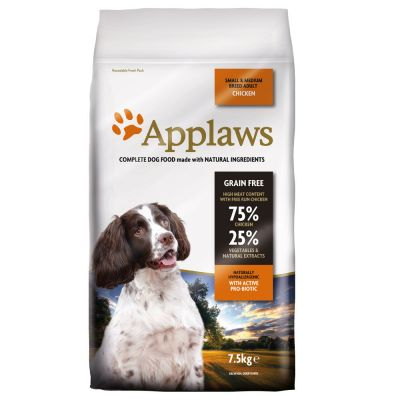 Applaws Adult Small & Medium Breed, poulet pour chien