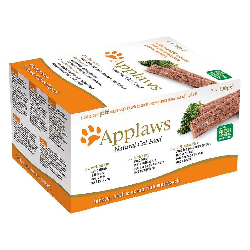 Applaws Cat Paté -lajitelma 7 x 100 g