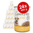 Applaws Grain Free Patê latas para cães 24 x 400 g - Pack económico