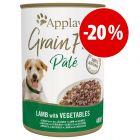 Applaws Grain Free Paté 6 x 400 g latas para perros ¡a precio especial!